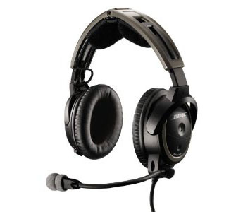 Bose A20 Aviation Headset (Battery-powered w/Bluetooth, Electret mic, Straight cord, Helicopter U-174 plug)